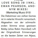 Jullian Gomes - Love Song 28 Groove review - Jan 12