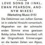 Jullian Gomes - Love Song 28 Groove review - Jan 12